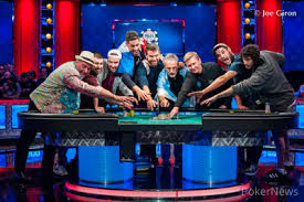 wsop final table the nine the wsop main event resumes today final nine battle at 5 30 p m