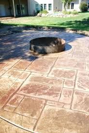 Stamped Concrete Patios Pictures articles with concrete patio designs fire pit tag appealing