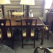 Mahogany Dining Room Table And 8 Chairs Thomasville Dining Table 8 Chairs Mahogany Table With Two