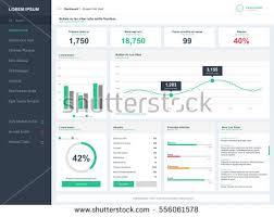 dashboard user admin panel template design stock vector 556061578