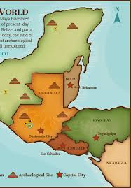 mayan empire map the living