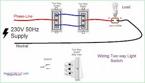 one way wiring diagram inspirational two way light switch