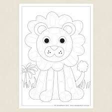amazing maize lion colouring sheet cleverpatch