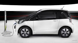 cars toyota charging electric car toyota iq wallpapers and images wallpapers