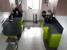 implantation cuisine en l cuisine en parallele plan la couloir avec de travail paralelle 777