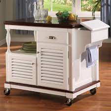kitchen kitchen carts and islands ideas using white wood rolling
