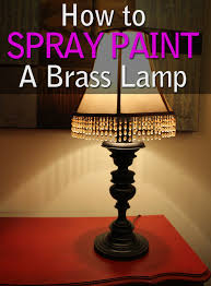Spray Painting Brass Light Fixtures L Makeover How To Spray Paint A Brass L