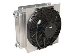 oil cooler fan kit large offroad oil trans cooler kit with 12 fan oil cooler kit 9835