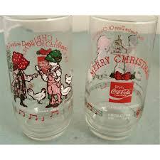 christmas glasses 6 coke hobbie christmas glasses set coca cola 79