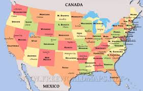 map of the usa usa map inside america states roundtripticket me and of state