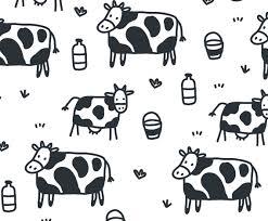 cartoon cow pattern vector vector art u0026 graphics freevector com