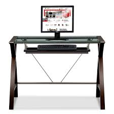 Glass Corner Computer Desks For Home Wonderful Small Desk Computer With Modern Tempered Glass Corner