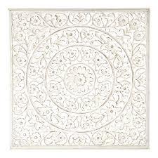 maison du monde coussin de sol panneau mural ranakpur blanc h 100 x l 100 x pr 2 panneau de