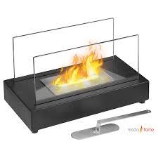 Portable Indoor Outdoor Fireplace by Moda Flame Vigo Table Top Ethanol Fireplace The Vigo Versatile