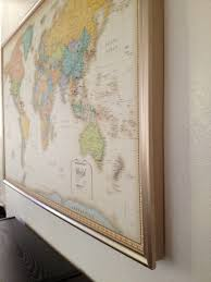 Map With Pins Diy Framed World Map With Pins Hamonious Within Besttabletfor Me