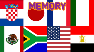Flag Of All Countries Hello World Memory
