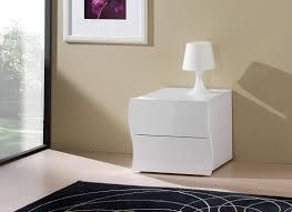 commode chambre blanc laqué chevet design 2 tiroirs laqué blanc onida chevet chambre adulte