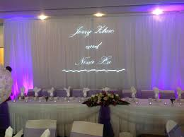wedding backdrop reception light up your names for your bridal table backdrop www