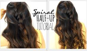 3 minute spiral half updo hairstyle easy back to
