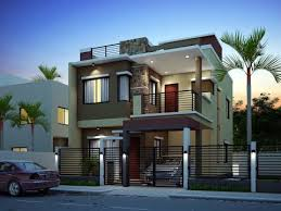 Lofty Exterior House Designs In India For Small Low Bud