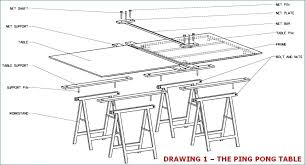 ping pong table dimensions inches ping pong table dimensions picture of assembling table ping pong