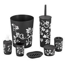 captivating 70 black white bath accessories design decoration of