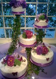 aprils cakes gallery quinceanera cake white round purple roses 002