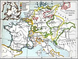 Europe Asia Map Central Europe Map 1660 A D Full Size