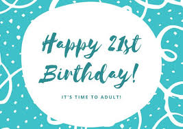 hand drawn 21st birthday card templates by canva