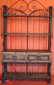 small hacienda wrought iron hutch demejico