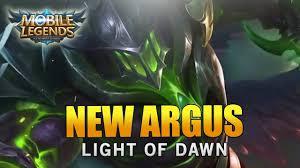 Light Of Dawn Mobile Legends New Hero Argus Light Of Dawn Skin Youtube