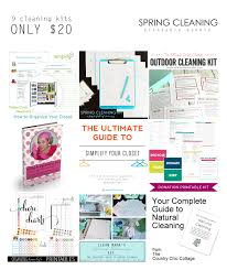 ended spring cleaning printable bundle clean mama