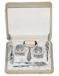 Silver Desk Accessories Antique Desk Sets Antique Furnitures