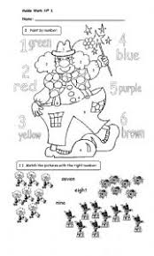 english teaching worksheets colour by numbers