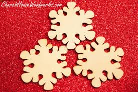 wooden snowflake ornaments set of 25 for sale church