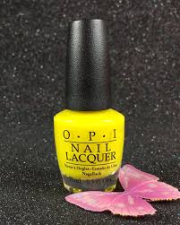 opi nail lacquer no faux yellow nlbb8 tru neon collection summer
