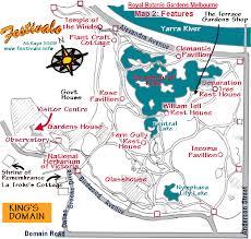 Royal Botanical Gardens Melbourne Map Map Of Royal Botanic Gardens Features Melbourne