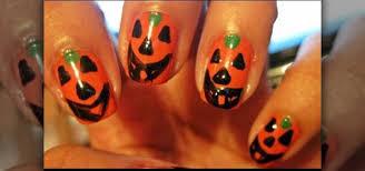 how to paint halloween pumpkin nails nails u0026 manicure wonderhowto