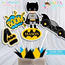 batman party supplies centerpieces superheroes bat by instaparties