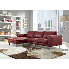 Leather Sectional Sofa Chaise by Anika Red Full Top Grain Leather Sectional Sofa Sectional Sofas