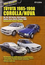 toyota corolla nova 1985 98 auto repair manual sedan seca hatch