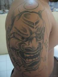 70 adorable mask tattoos on arm