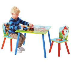 buy paw patrol table u0026 2 chairs blue argos uk