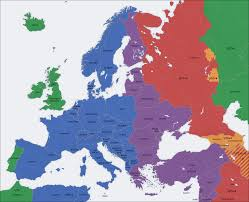 European Union Blank Map by Europe Time Zones Map De U2022 Mapsof Net