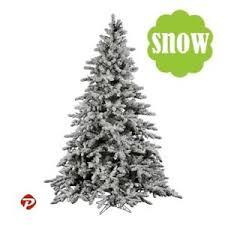 2 9ft white snow flocked pvc artificial tree unlit