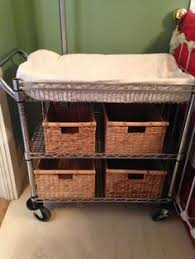 rolling baby changing table changing table made from rolling wire kitchen cart add a changing