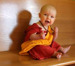 Cheap Newborn Halloween Costumes Bald Baby Halloween Diy Costume Tibetan Monk Dalai