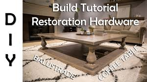 diy square coffee table restoration hardware balustrade coffee table diy youtube