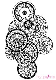 coloriage et mandala zen à imprimer femme actuelle