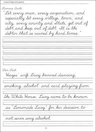 free cursive handwriting worksheets for third grade 44 united states presidents character writing worksheets dnealian